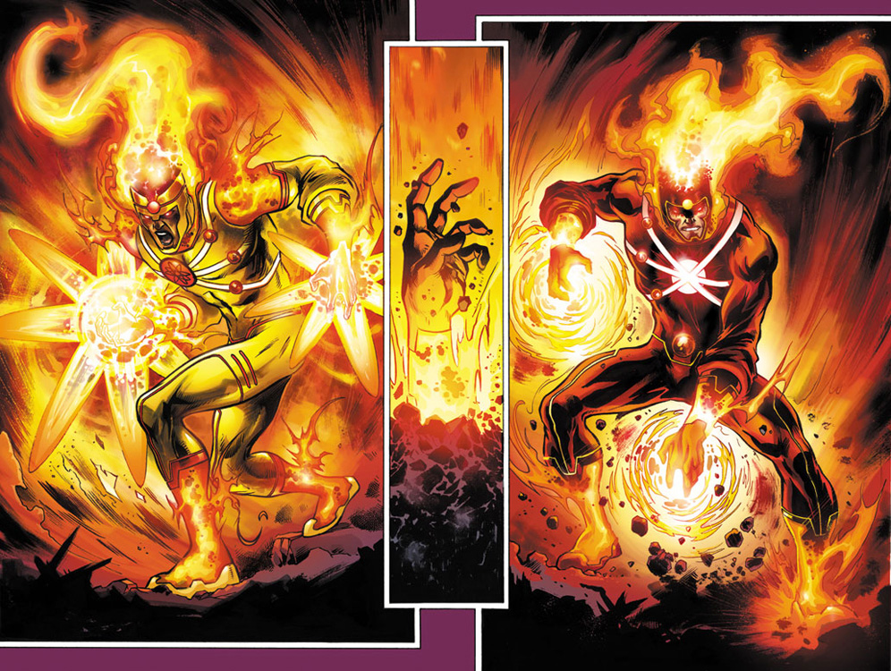 Firestorms from THE FURY OF FIRESTORM #1 by Yildiray Cinar