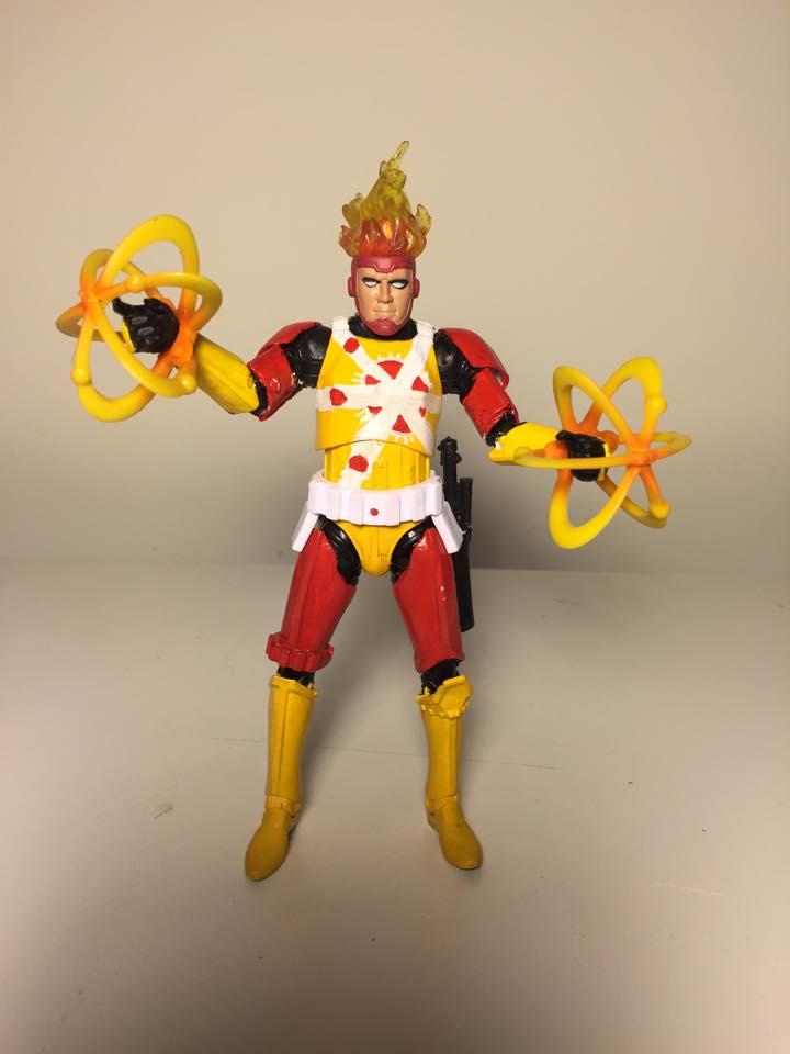 Custom Firestorm action figure by Travis Fowler - FireStormtrooper