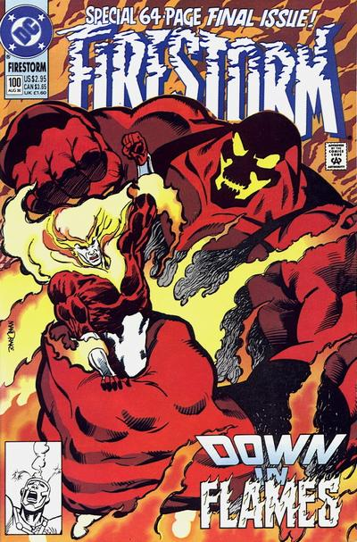 Firestorm #100 written by John Ostrander