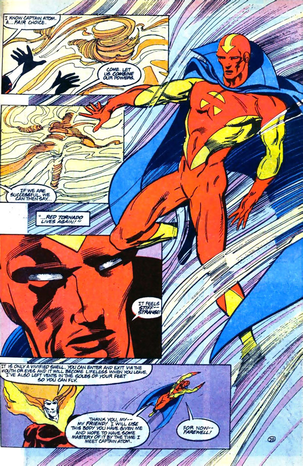 Firestorm #93 by John Ostrander and Tom Mandrake featuring Red Tornado