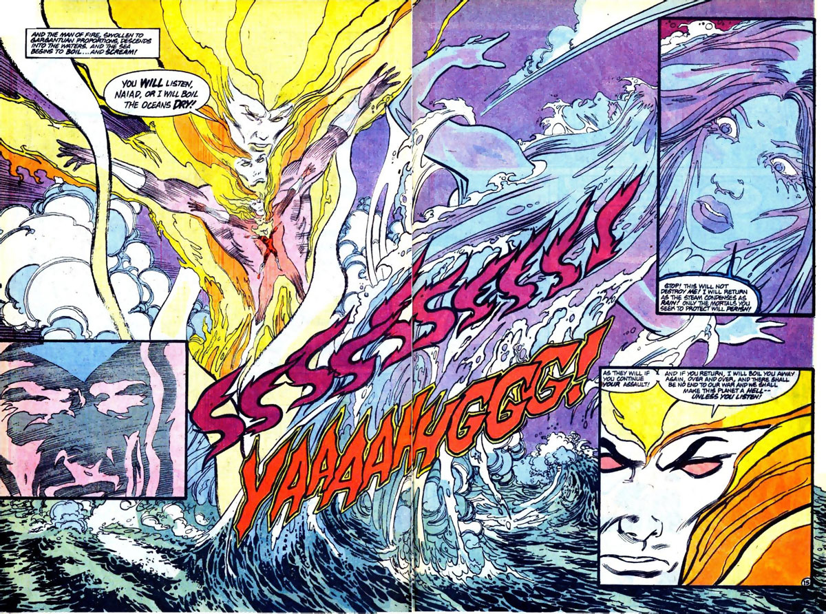 Firestorm #93 splash page by John Ostrander and Tom Mandrake