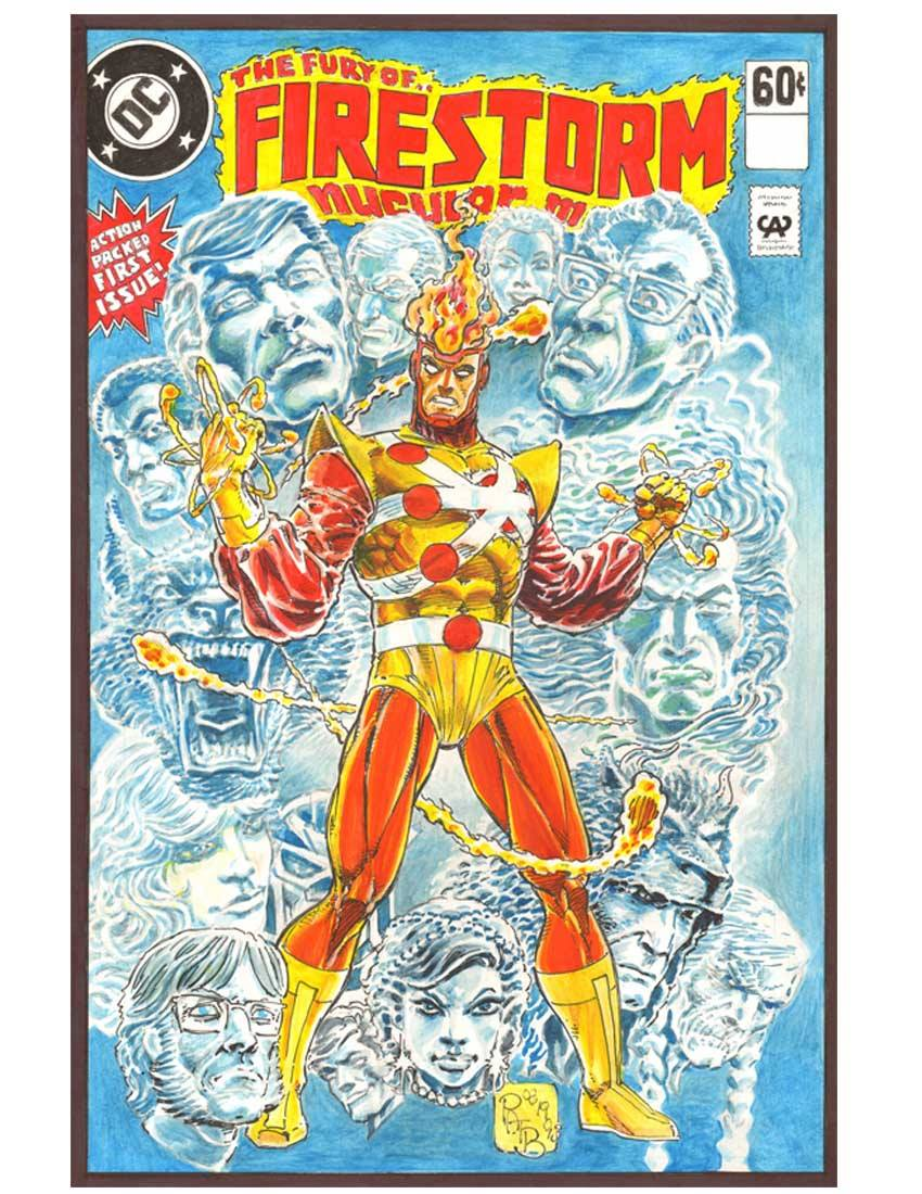 Fury of Firestorm #1 cover by Pat Broderick reimagined