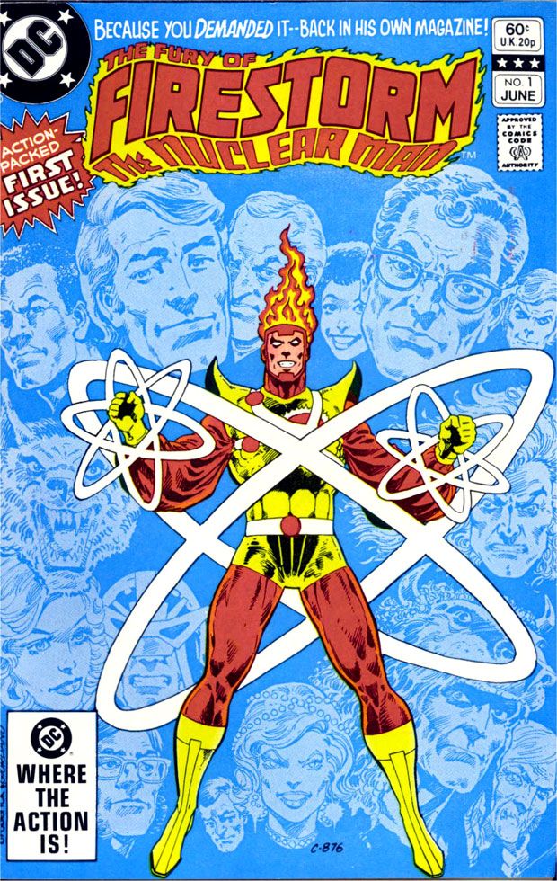 Fury of Firestorm #1 cover by Pat Broderick and Dick Giordano