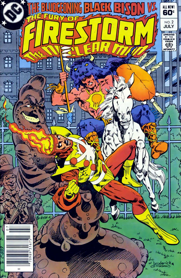 Fury of Firestorm #2 cover by Pat Broderick and Dick Giordano