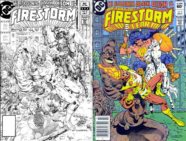 Fury of Firestorm #2 cover by Pat Broderick