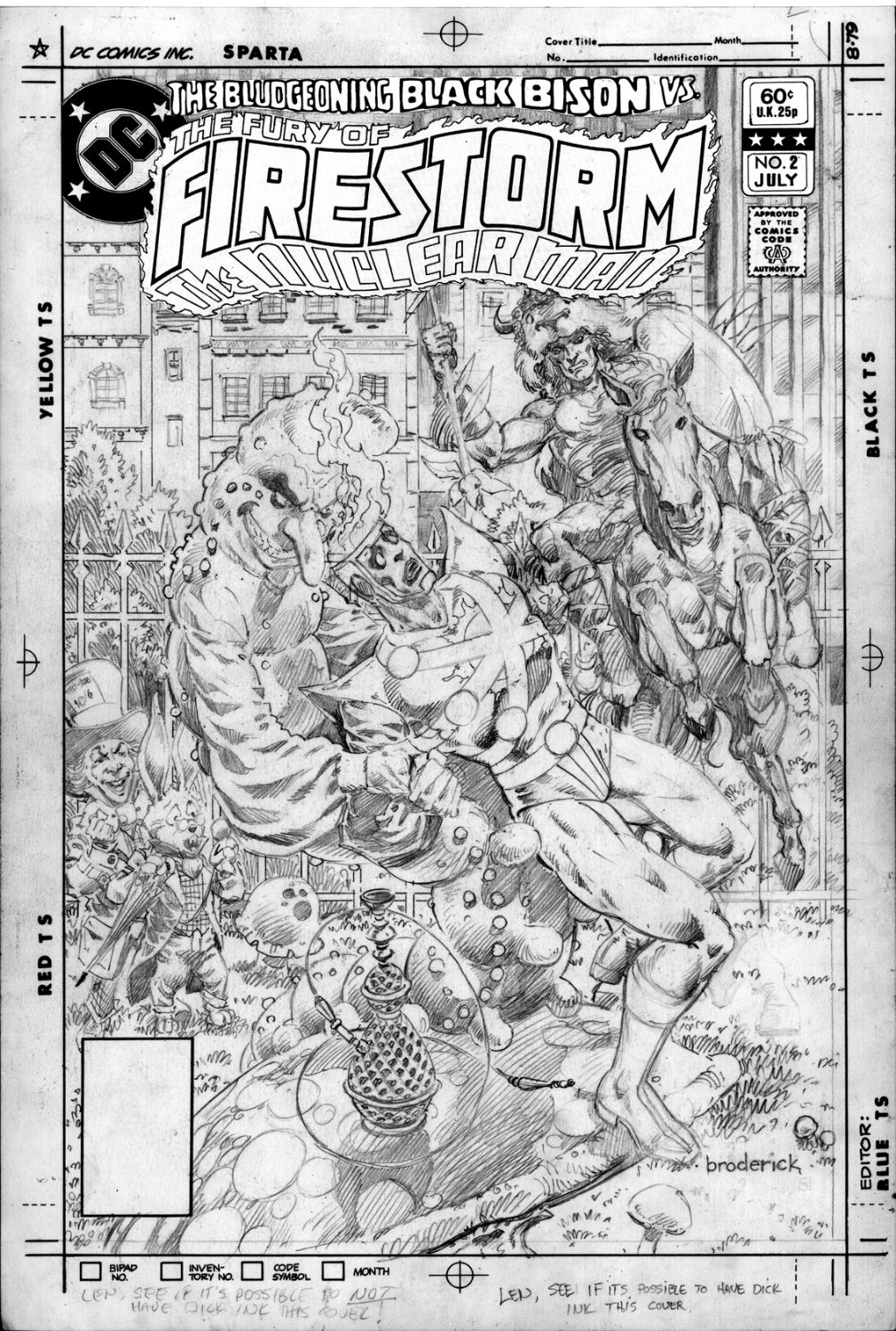 Fury of Firestorm #2 original cover by Pat Broderick