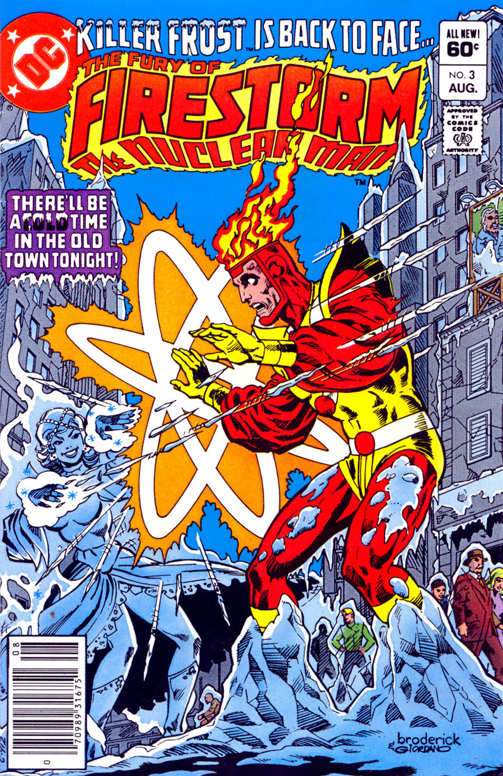 Fury of Firestorm #3 cover by Pat Broderick and Dick Giordano
