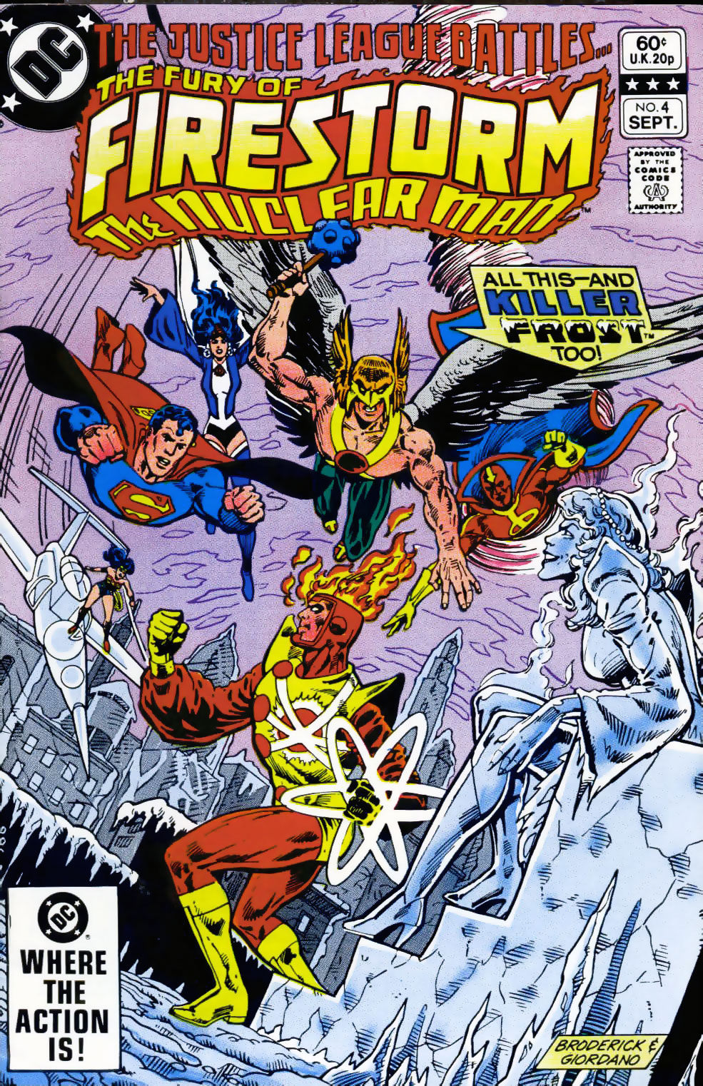 Fury of Firestorm #4 cover by Pat Broderick and Dick Giordano