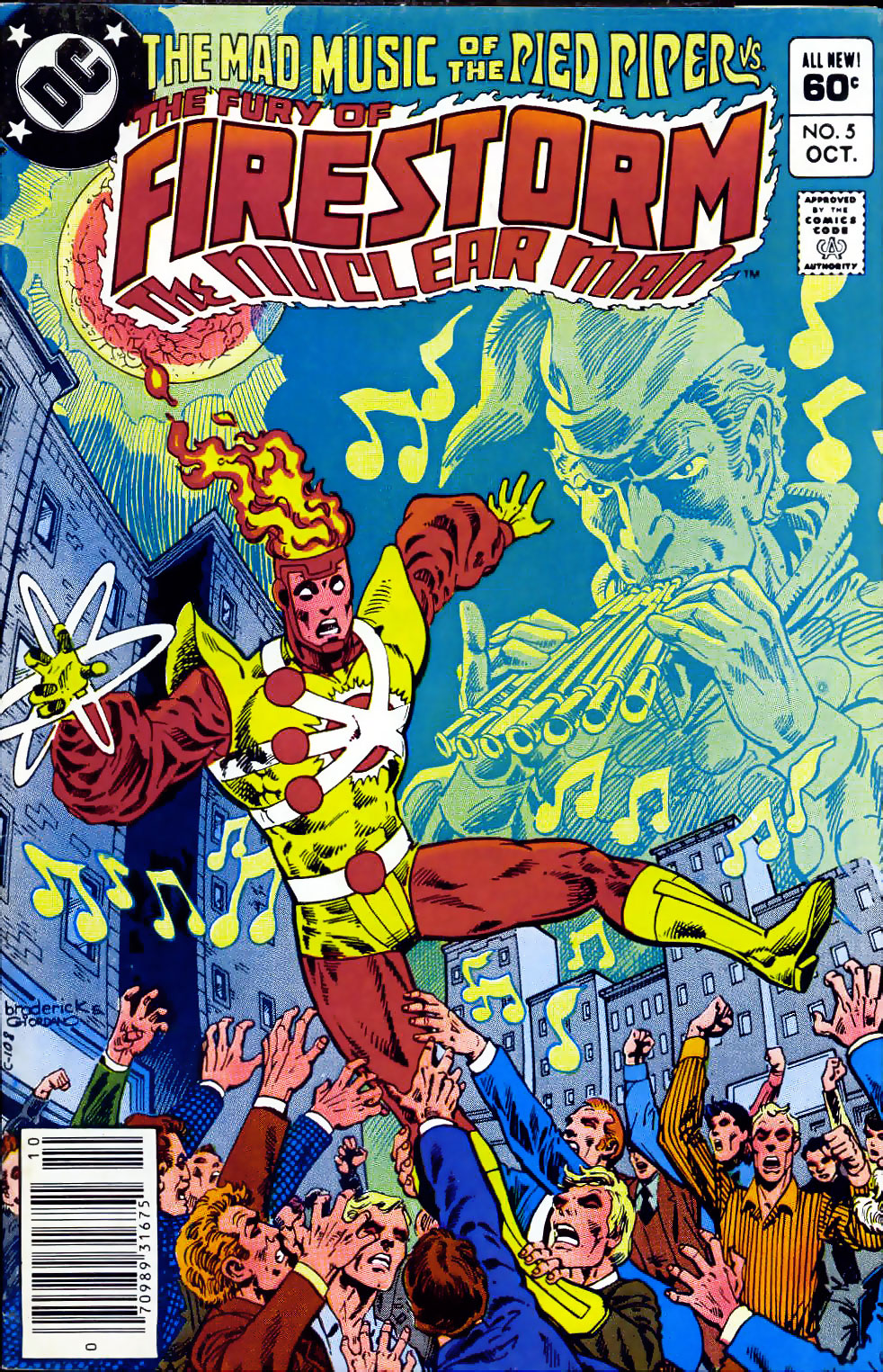 Fury of Firestorm The Nuclear Man #5 cover by Pat Broderick and Dick Giordano
