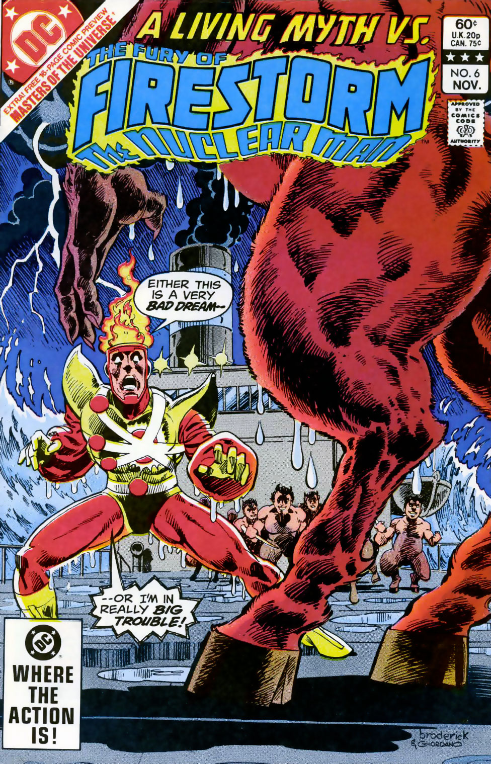 Fury of Firestorm The Nuclear Man #6 cover by Pat Broderick and Dick Giordano