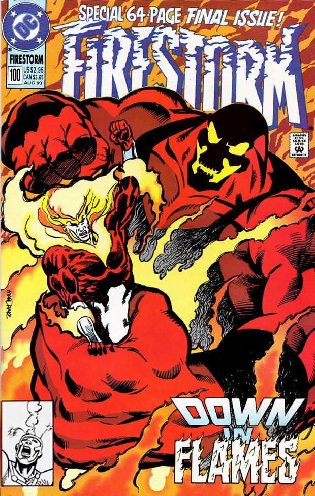 Firestorm v2 #100 cover by Tom Mandrake