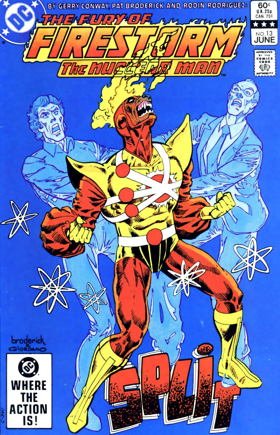 Fury of Firestorm The Nuclear Man #13 cover by Pat Broderick & Dick Giordano