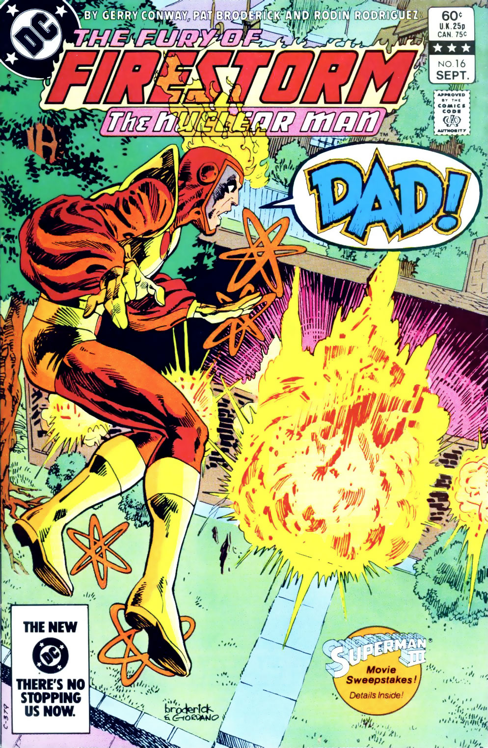 Fury of Firestorm #16 cover by Pat Broderick & Dick Giordano