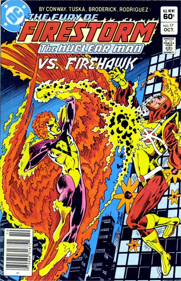 Fury of Firestorm #17 featuring Firehawk by Pat Broderick