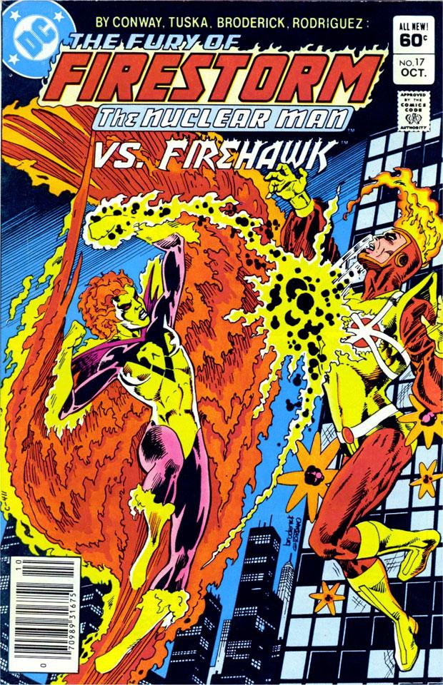 Fury of Firestorm #17 featuring Firehawk by Pat Broderick