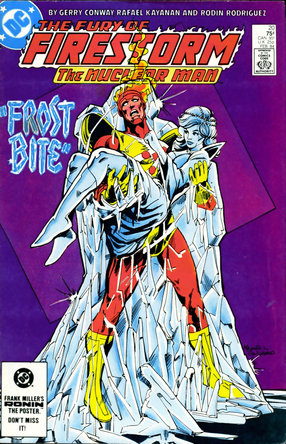 Fury of Firestorm #20 cover by Rafael Kayanan and Dick Giordano