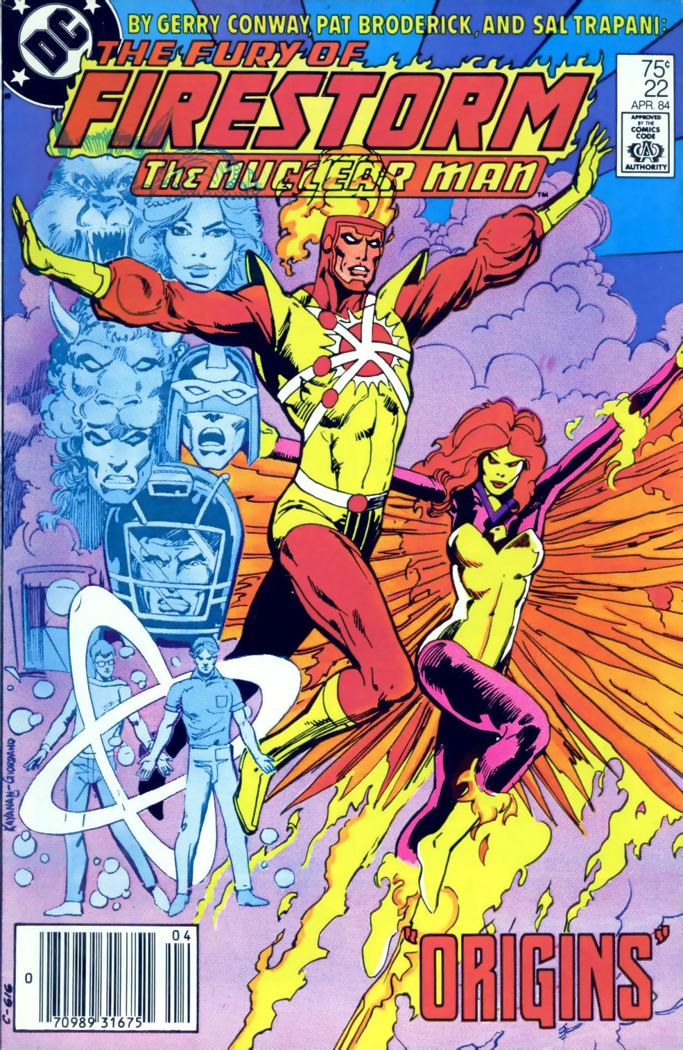 Fury of Firestorm #22 cover by Rafael Kayanan and Dick Giordano