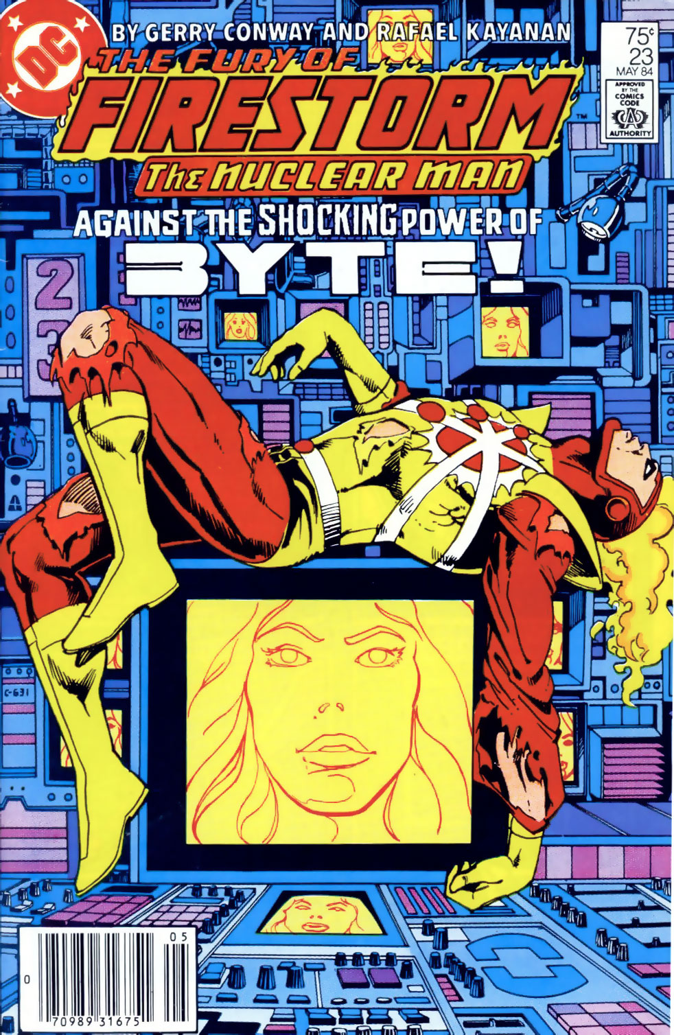 Fury of Firestorm #23 cover by Rafael Kayanan and Dick Giordano