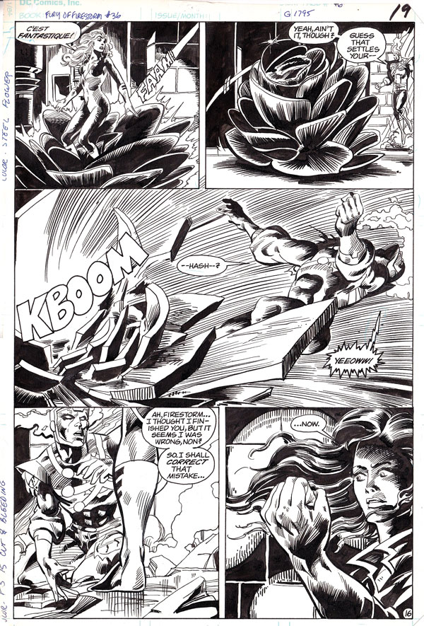 Fury of Firestorm #36 page 16 by Rafael Kayanan and Alan Kupperberg