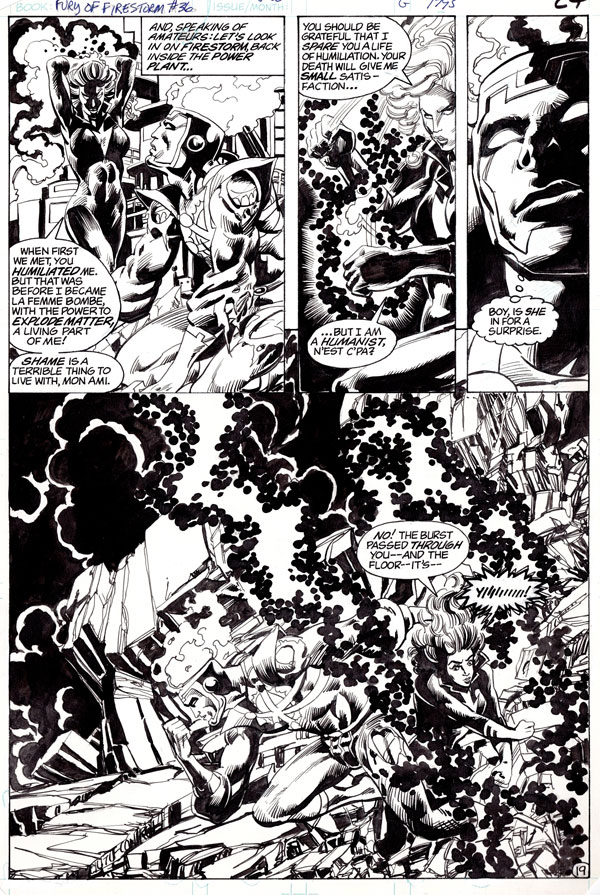 Fury of Firestorm #36 page 19 by Rafael Kayanan and Alan Kupperberg