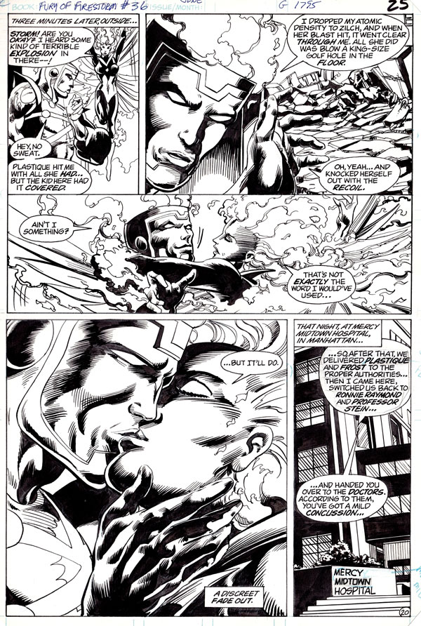 Fury of Firestorm #36 page 20 by Rafael Kayanan and Alan Kupperberg