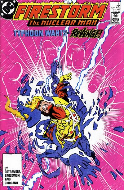 Fury of Firestorm #61 primary cover - DC Comics