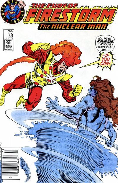 Fury of Firestorm #61 variant cover - Superman Comics