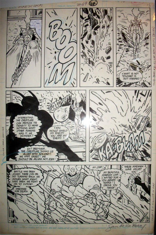 Firestorm the Nuclear Man vol 2 #69 page 18 by J.J. Birch and Sam De La Rosa