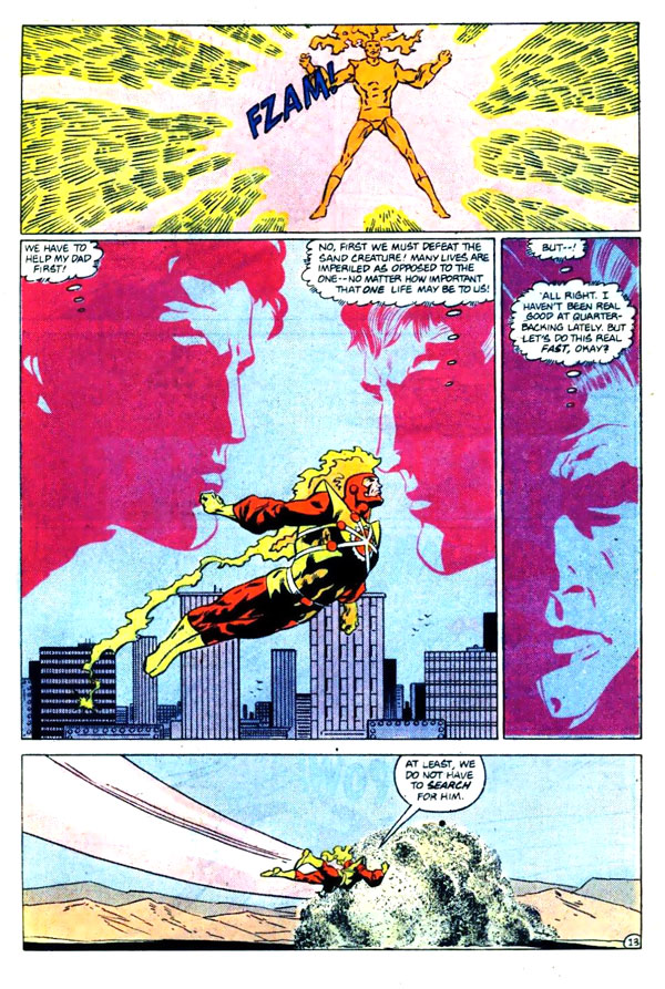 Firestorm the Nuclear Man v2 #75 page 13 by Joe Brozowski and Sam de la Rosa