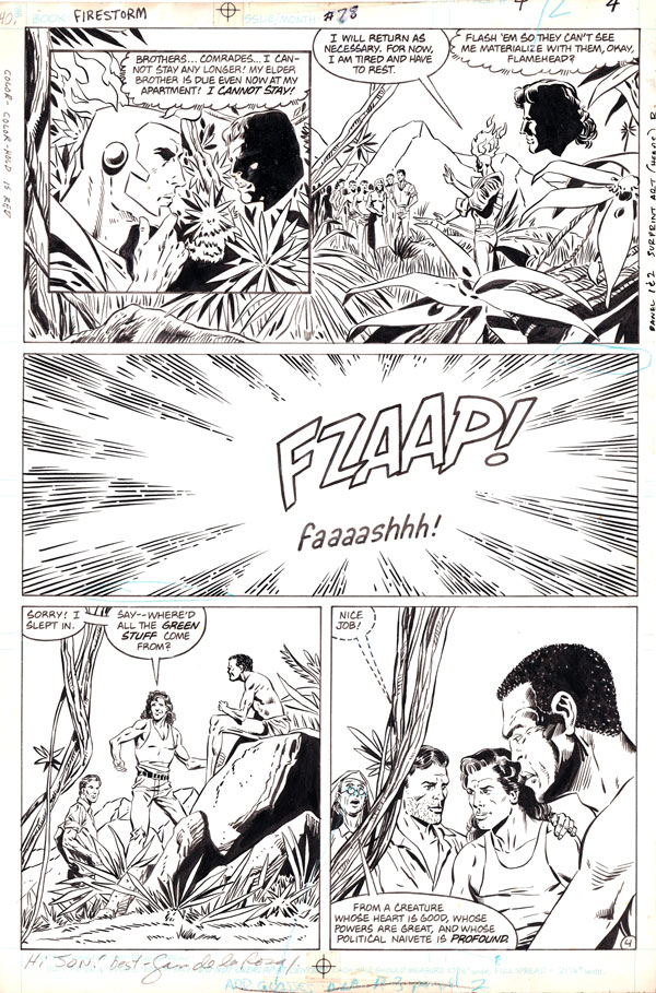 Firestorm the Nuclear Man v2 #78 page 4 by Joe Brozowski and Sam de la Rosa