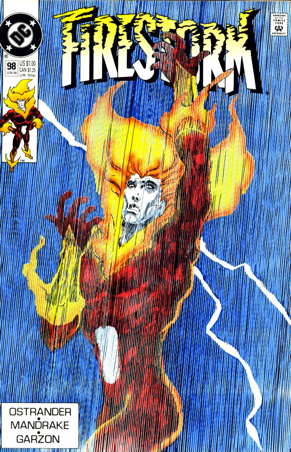 Firestorm #98 cover by Tom Mandrake