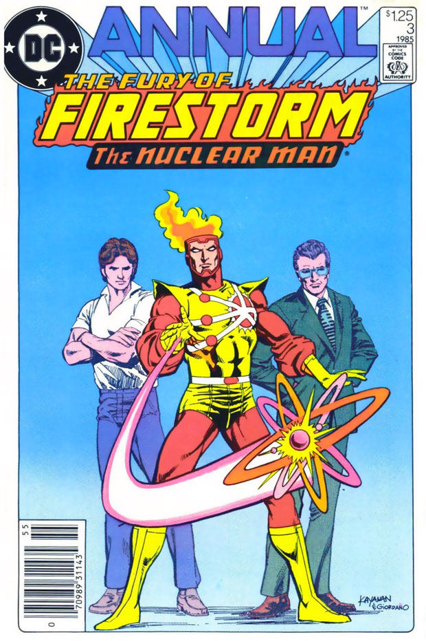 Fury of Firestorm Annual #3 cover by Rafael Kayanan and Dick Giordano