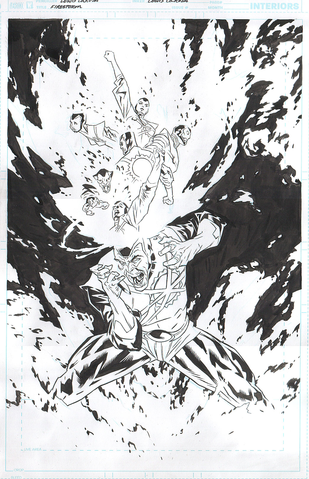 Firestorm volume III promo artwork by Lewis LaRosa from Fizzit blog