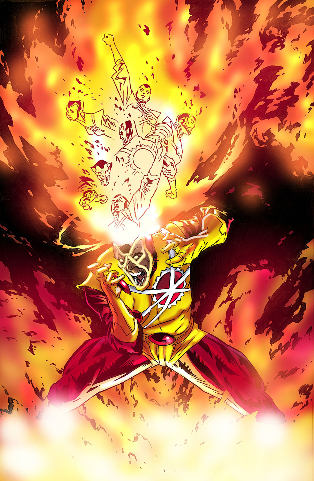 Firestorm volume III artwork by Lewis Larosa, colored by Tom Smith, from the Fizzit blog