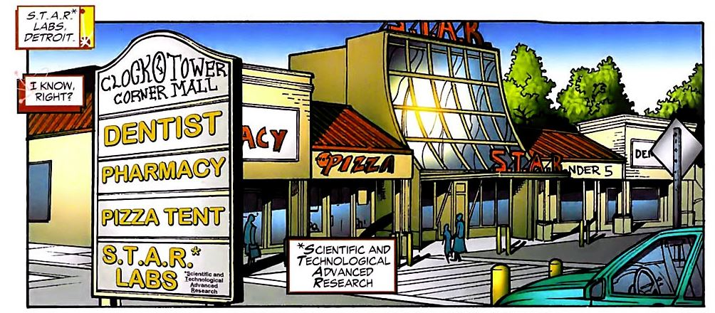 STAR Labs Detroit from FIRESTORM #14 by Stuart Moore & Jamal Igle