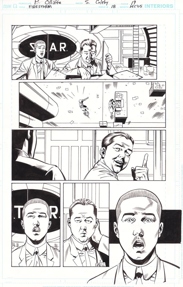 Firestorm #18 page 19 by Patrick Olliffe and Simon Coleby