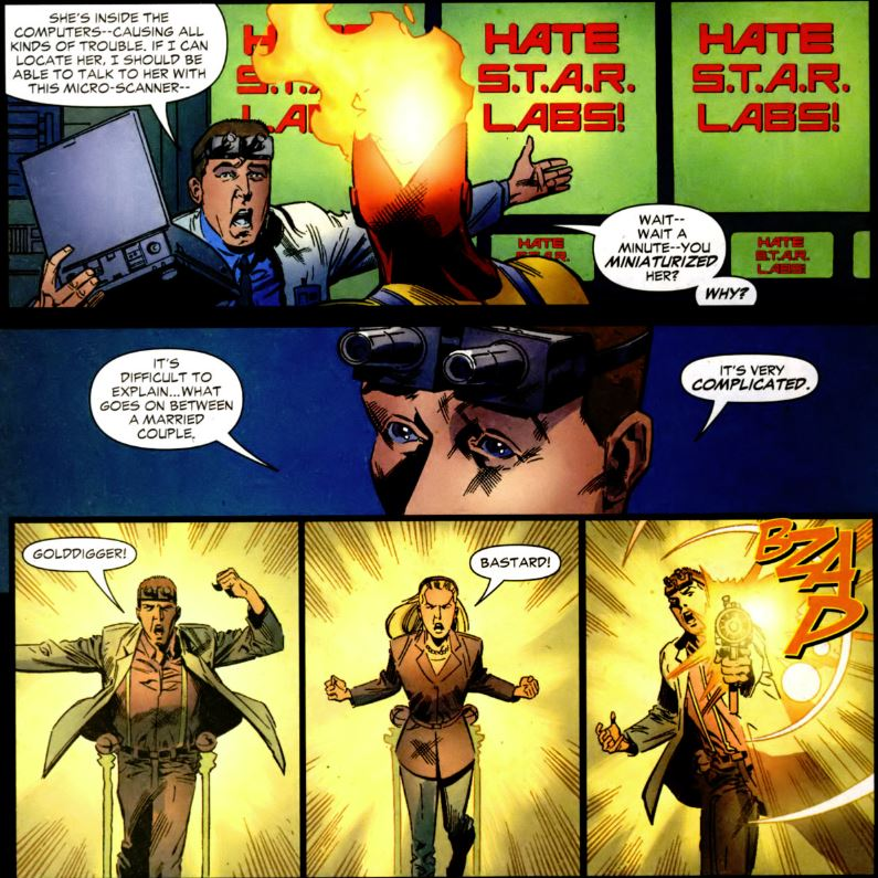 Dr Allen Phaedon in Firestorm #20 by Stuart Moore and Patrick Olliffe