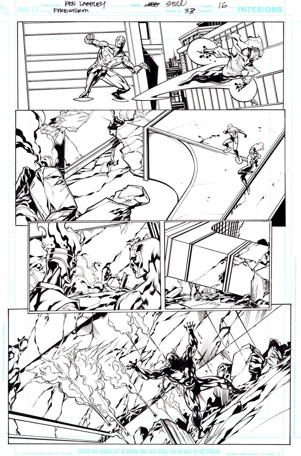 Firestorm vol 3 #33 pg 16 by Ken Lashley from fizzit-fzam.blogspot.com