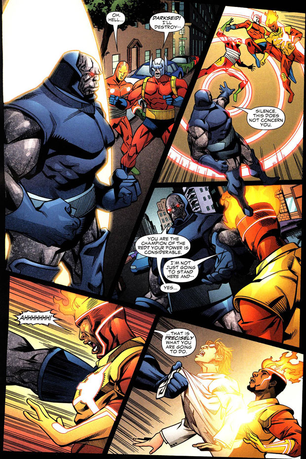 Firestorm the Nuclear Man vol III #35 featuring Darkseid versus Firestorm