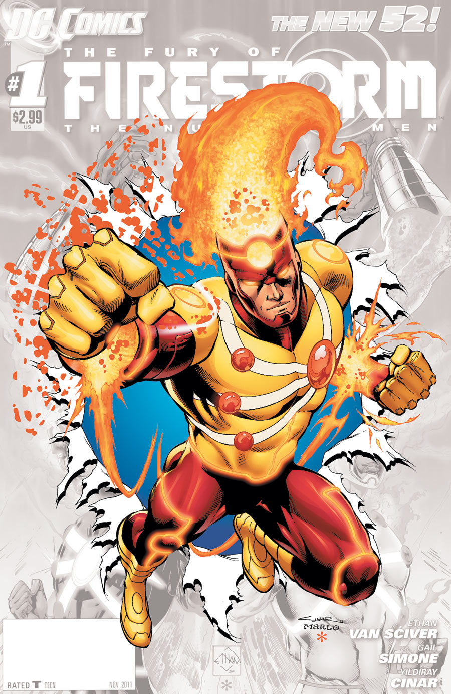 Fury of Firestorm: The Nuclear Men #0 cover by Yildiray Cinar & Marlo Alquiza