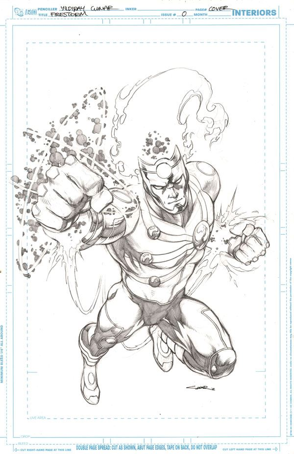Fury of Firestorm The Nuclear Men #0 cover pencils by Yildiray Cinar