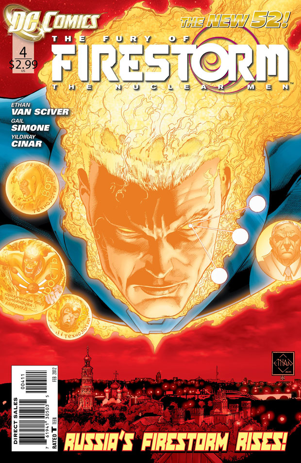 Fury of Firestorm: The Nuclear Men #4 cover by Ethan Van Sciver