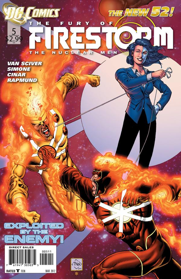 Fury of Firestorm: The Nuclear Men #5 cover by Ethan Van Sciver