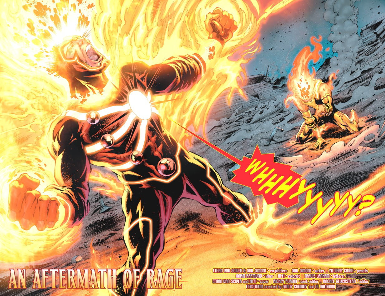 Fury of Firestorm the Nuclear Men #6 drawn by Yildiray Cinar and Norm Rapmund