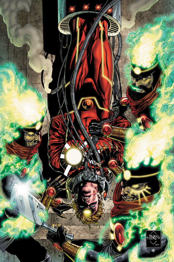 Fury of Firestorm: The Nuclear Men #7 cover by Ethan Van Sciver