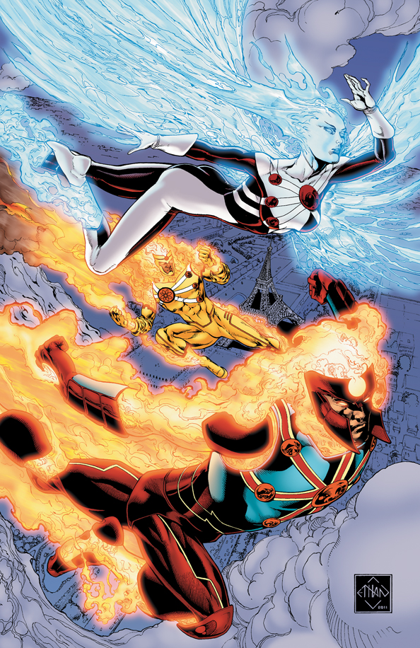 Fury of Firestorm: The Nuclear Men #8 by Ethan Van Sciver, Joe Harris, and Hi-Fi color