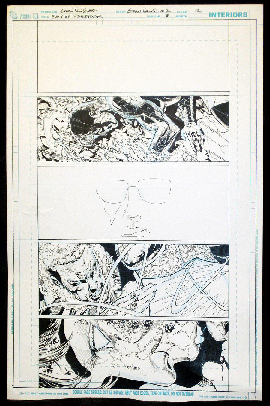 Fury of Firestorm: The Nuclear Men #8 original art with Professor Stein by Ethan Van Sciver