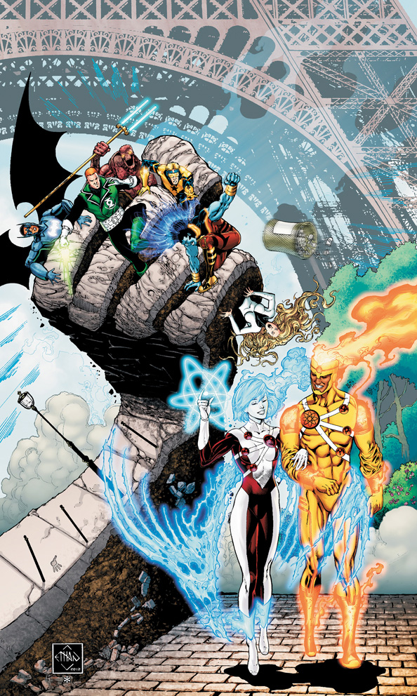 The Fury of Firestorm: The Nuclear Men #9 cover by Ethan Van Sciver
