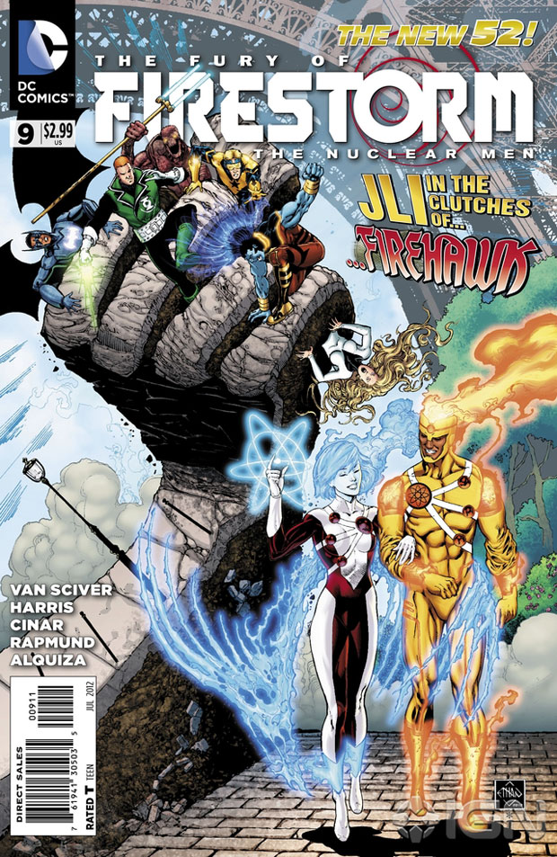 Fury of Firestorm: The Nuclear Man #9 cover by Ethan Van Sciver