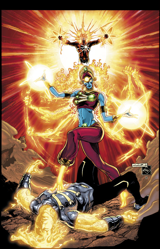 Fury of Firestorm: The Nuclear Men #10 cover by Yildiray Cinar, Ethan Van Sciver, and Hi-Fi Color